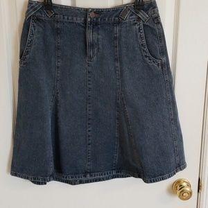 Fluted Jean skirt